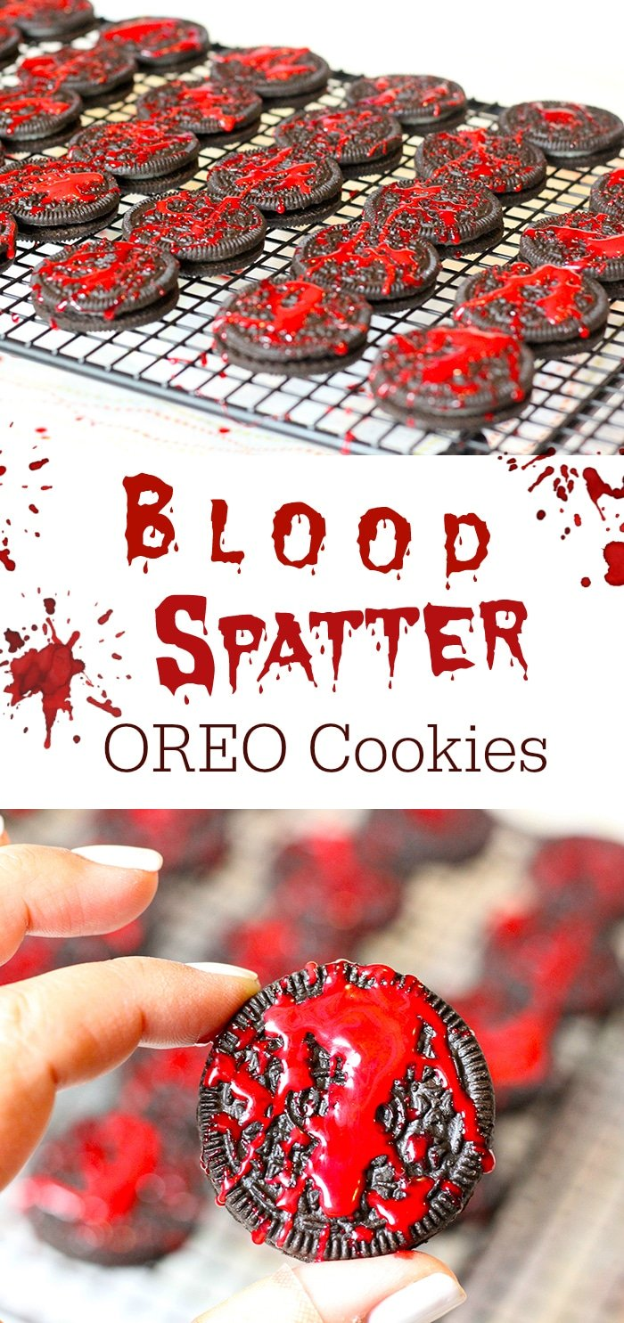 Blood spatter cookies and other Halloween party food ideas