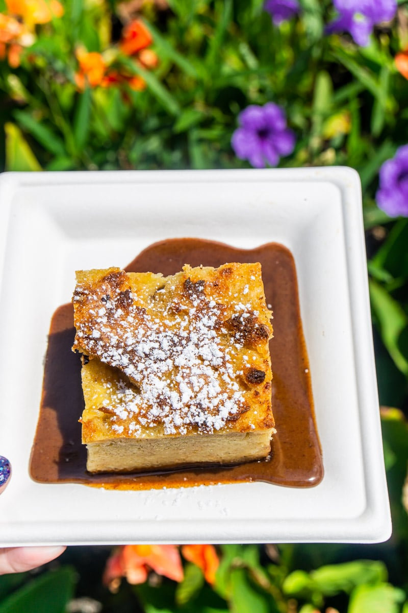 Chocolate bread pudding from Mexico during food and wine