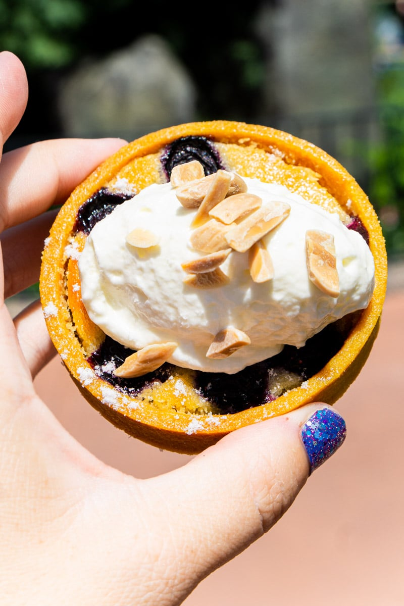 Blueberry almond tart from the Epcot food and wine festival 2019 menu
