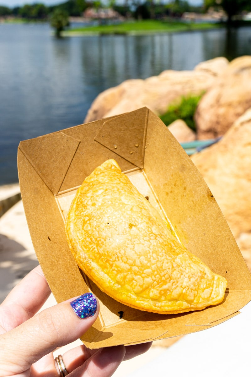 Meat pie from Africa during Disney food and wine festival