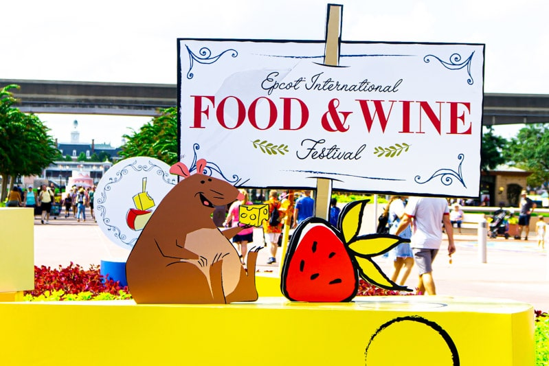 Epcot food and wine festival 2019 signage