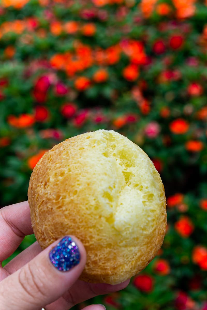 Brazilian cheese bread from Epcot food and wine festival