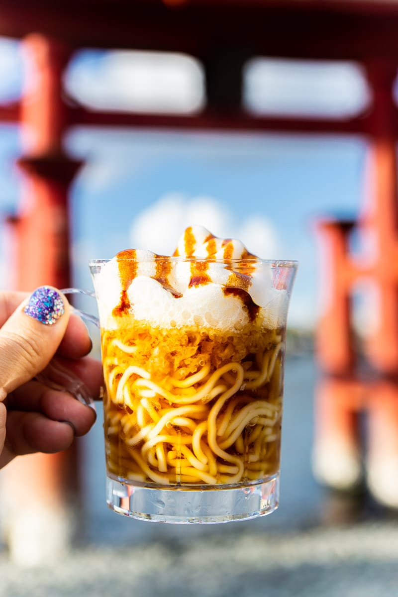 Frothy ramen from Epcot food and wine festival 2019 menu
