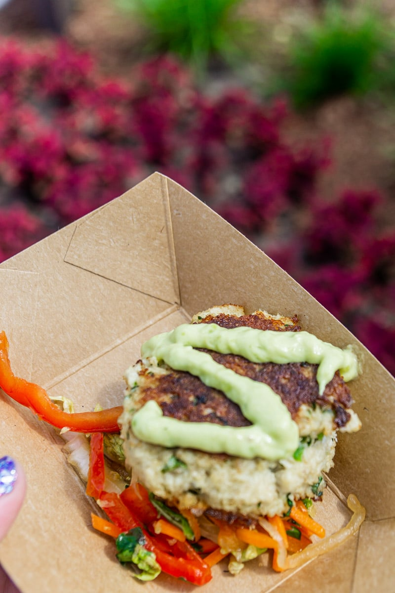 Crab cake at the Food and Wine Festival