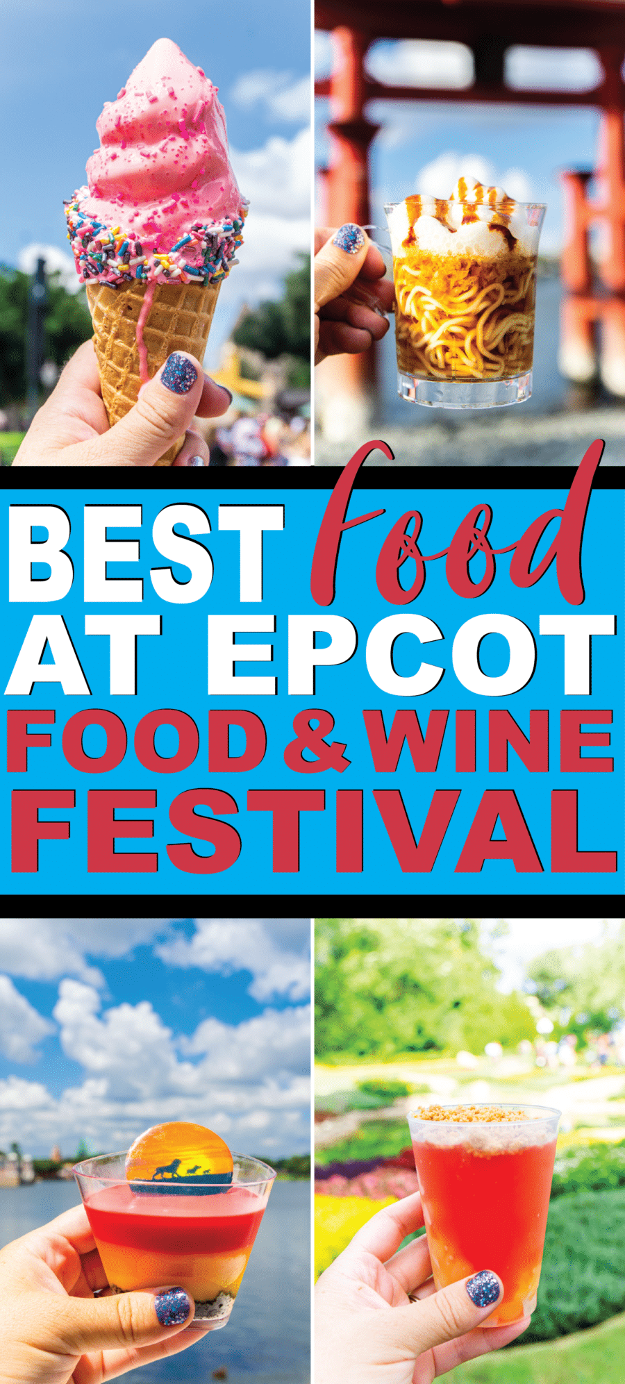 Pictures and reviews of everything on the Epcot Food and Wine Festival 2019 menu! A top 10 list of things you must-try when you go to Disney's food and wine festival - 10 savory dishes and 10 desserts! It's the ultimate guide to the food at Disney's Food and Wine Festival 2019!
