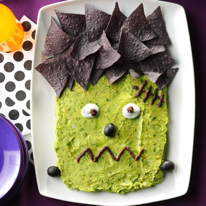 Frankenstein guac and other Halloween party ideas