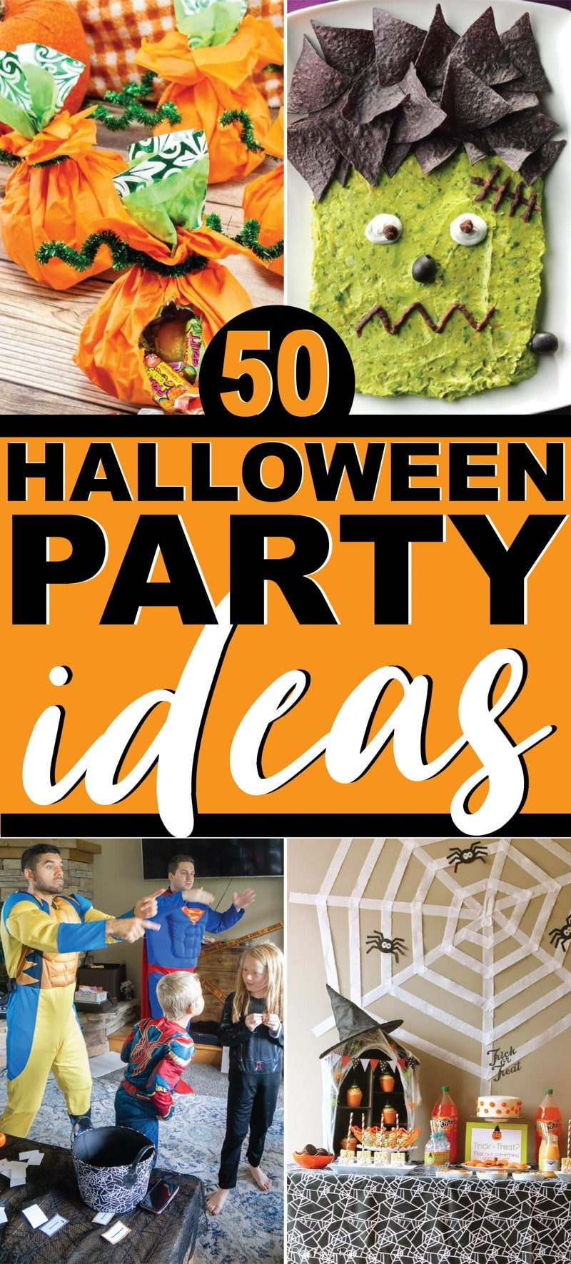 The best collection of Halloween party ideas for all ages - adults, kids, and teens!