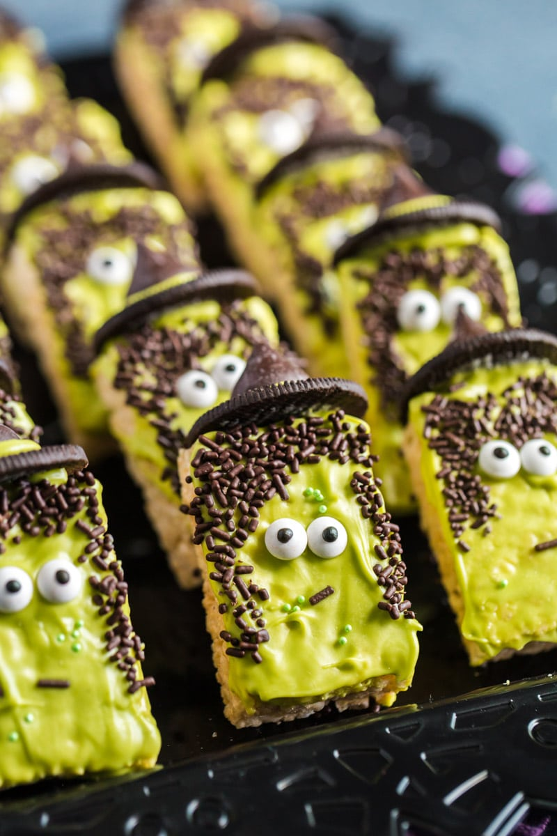 Witch rice krispies and other Halloween party food ideas