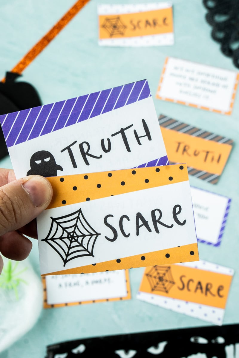 Printed out Halloween truth or dare questions for kids