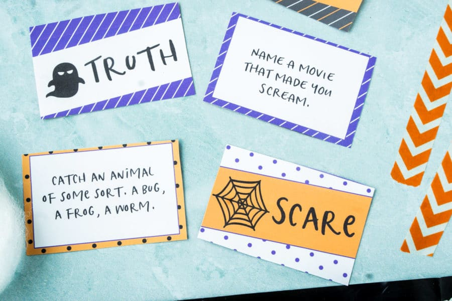 Halloween truth or dare questions cards