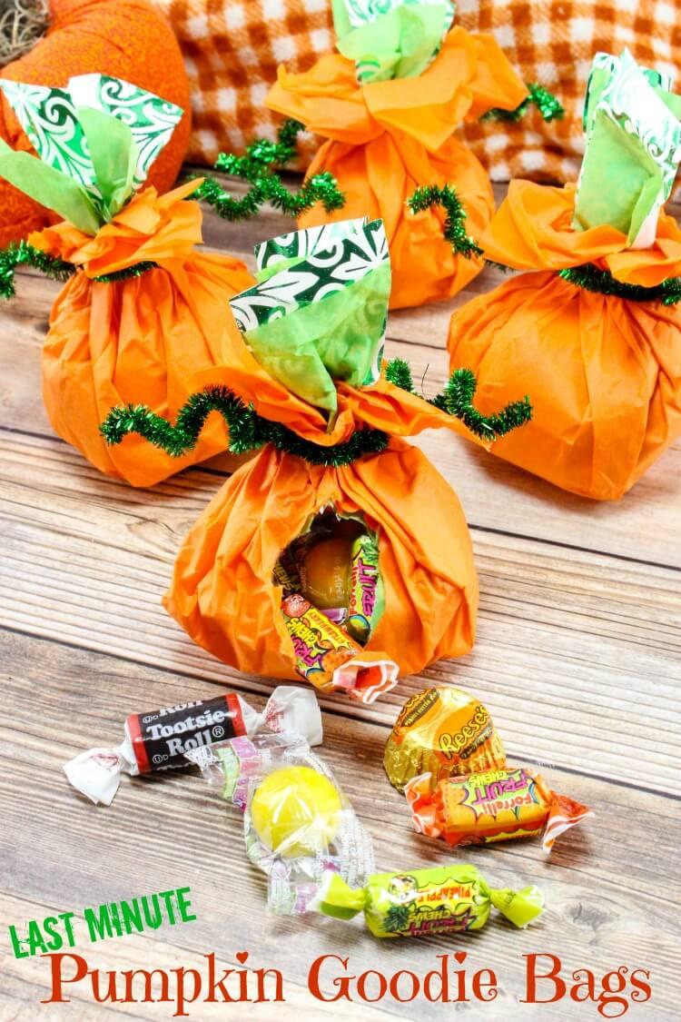 Pumpkin goodie bags