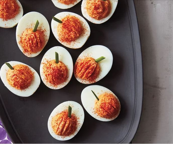 Deviled eggs make great Halloween party food ideas