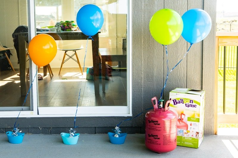 Balloons setup for spelling games