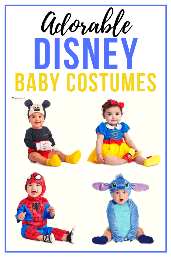 The best Disney baby costumes! Girl ideas and ideas for baby boys! Perfect for Halloween or for a trip to Disney World via @playpartyplan