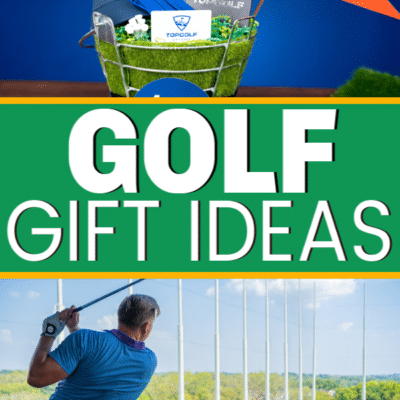 Fun golf gifts for men or women! Everything from a DIY golf gift basket to cool personalized gifts for him!