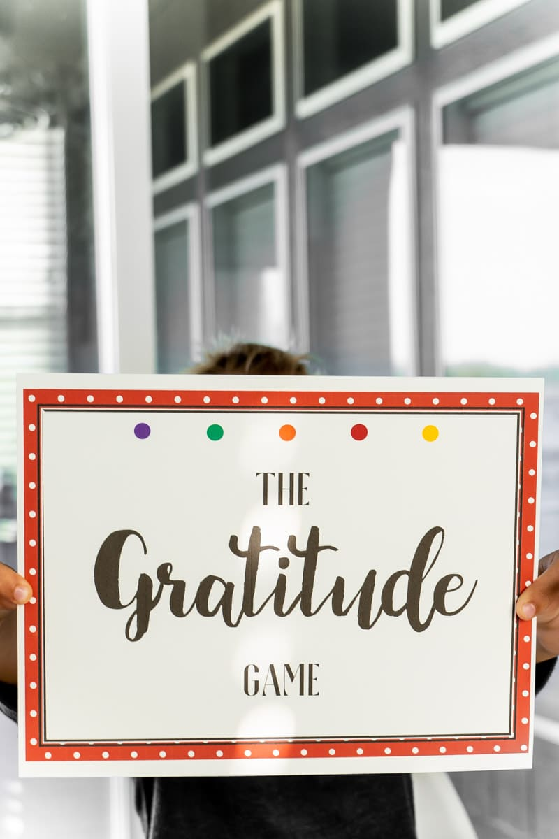 Gratitude Skittle game sign