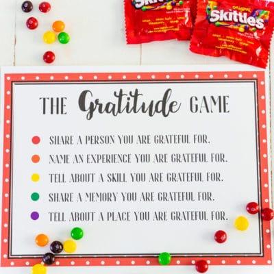 Easy Gratitude Skittles Game