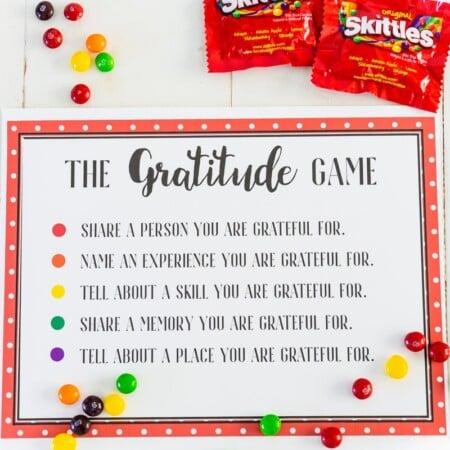 Gratitude game board