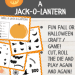 Printable roll a jack o lantern game