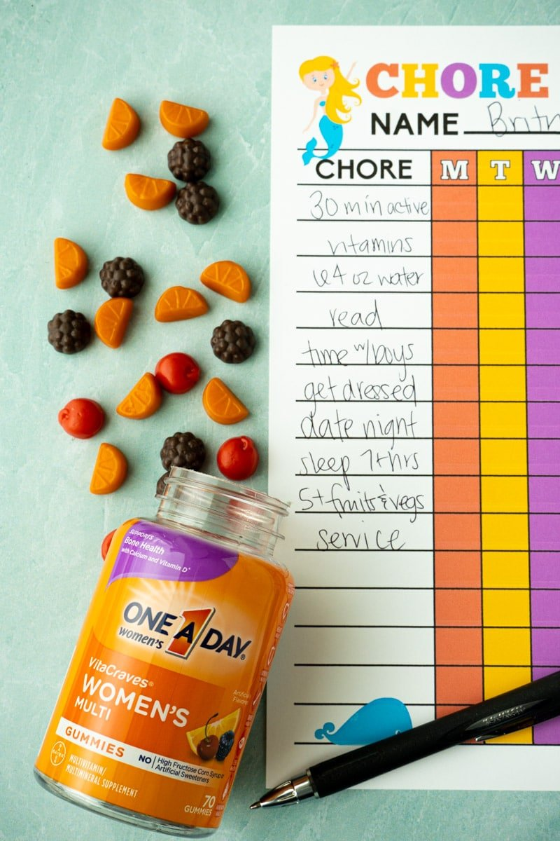 Free printable chore chart for girls