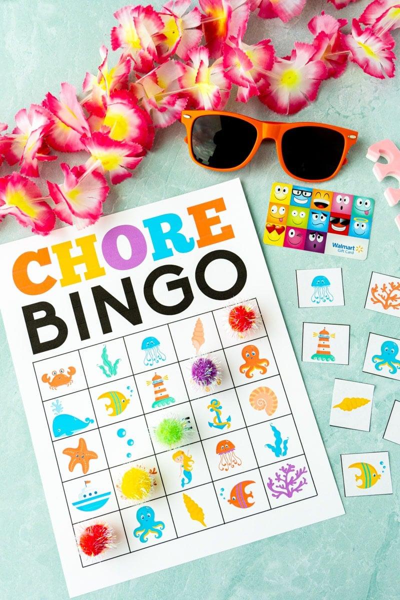 chore chart bingo card