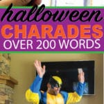 Printable list of Halloween charades words for kids and adults! Over 100 different Halloween themed words that are easy to guess and funny to act out! Everything from Halloween movies to just regular words for a classroom party!
