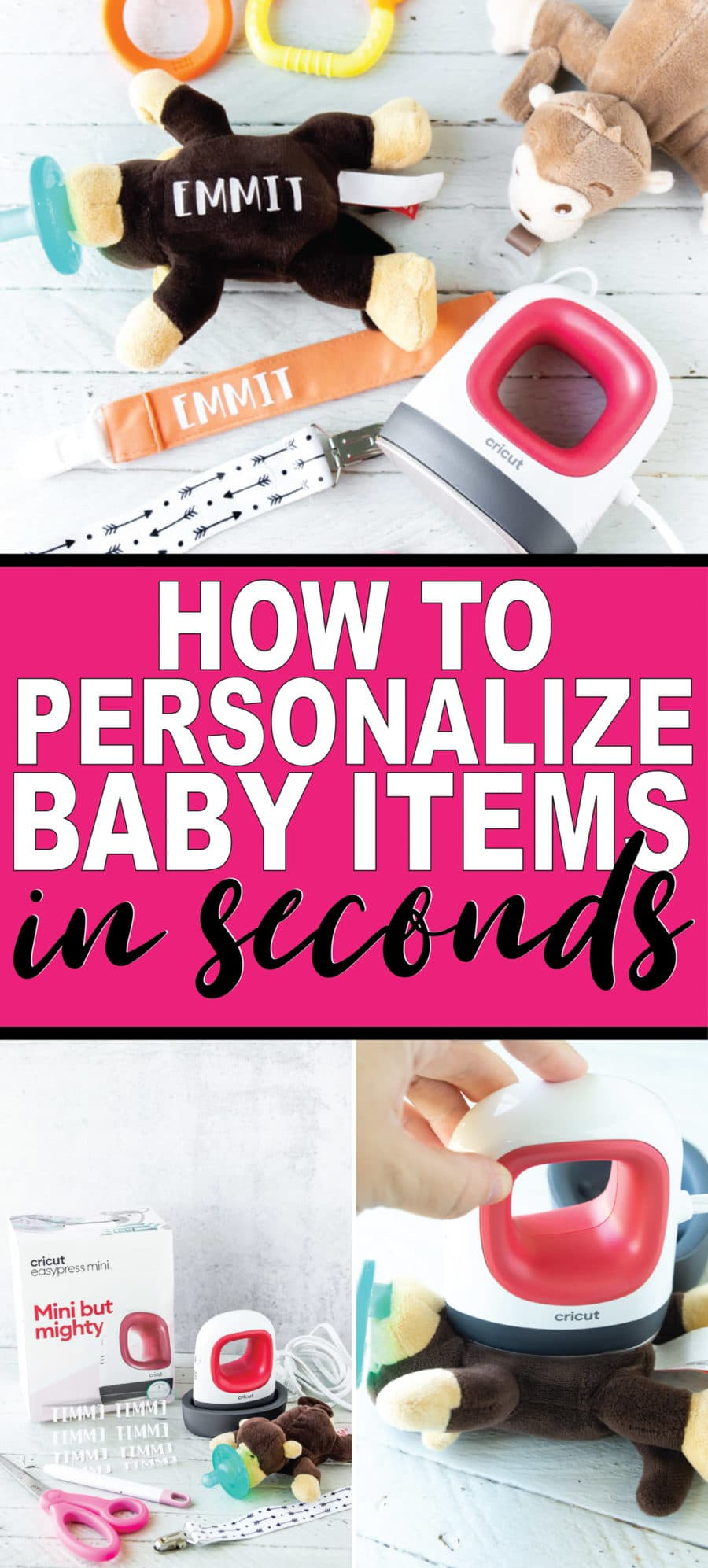 How to personalize baby items with the Cricut EasyPress Mini