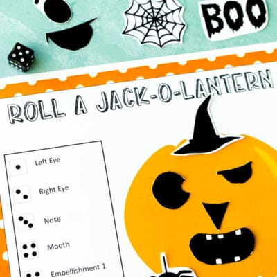 Free Printable Roll A Jack O Lantern Game