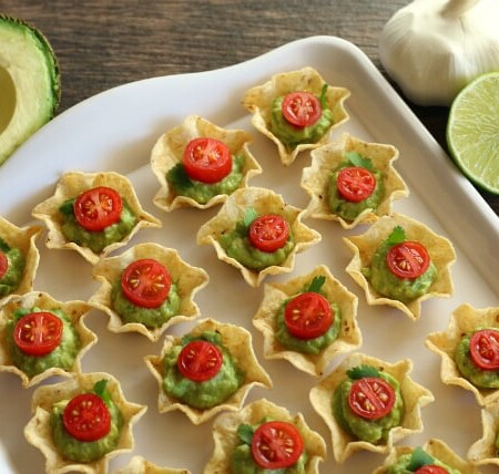 Chip and guac make great Christmas appetizers