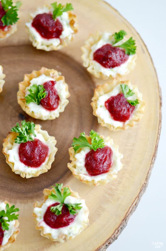 Cranberry Christmas appetizers