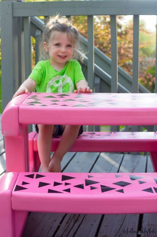 Picnic tables make great personalized gifts for kids
