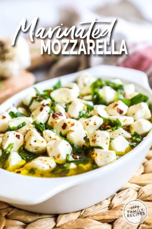 Mozzarella balls make great Christmas appetizers