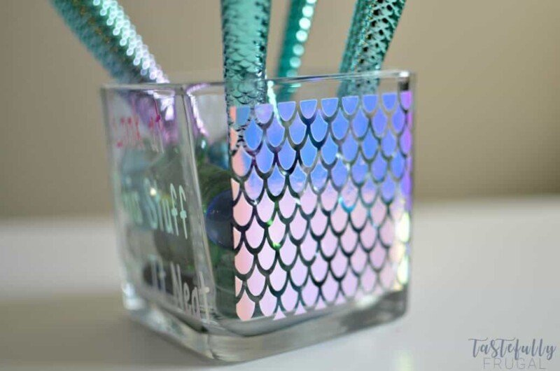 Personalized mermaid makeup holder