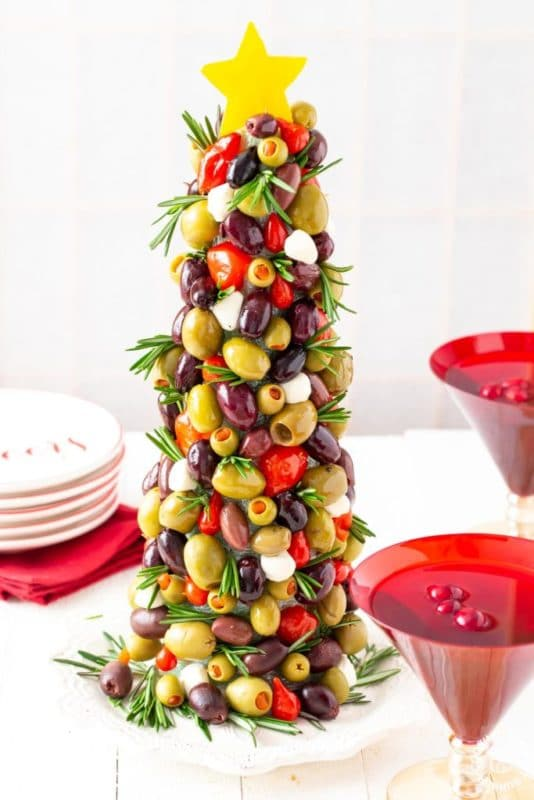 Olive Christmas appetizers