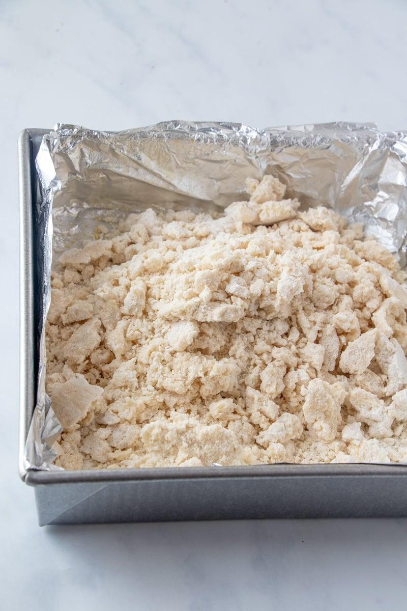 Shortbread crust for pecan pie bars