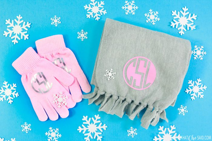 Monogram gloves and mittens make great personalized gifts for kids