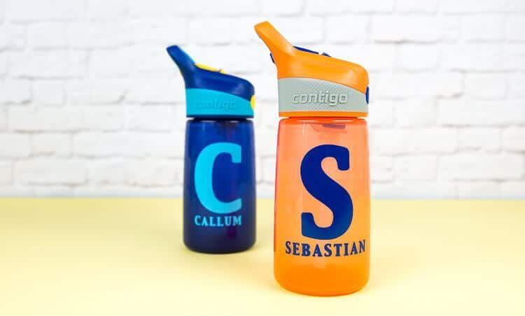 Water bottles make great personalized gifts for kids