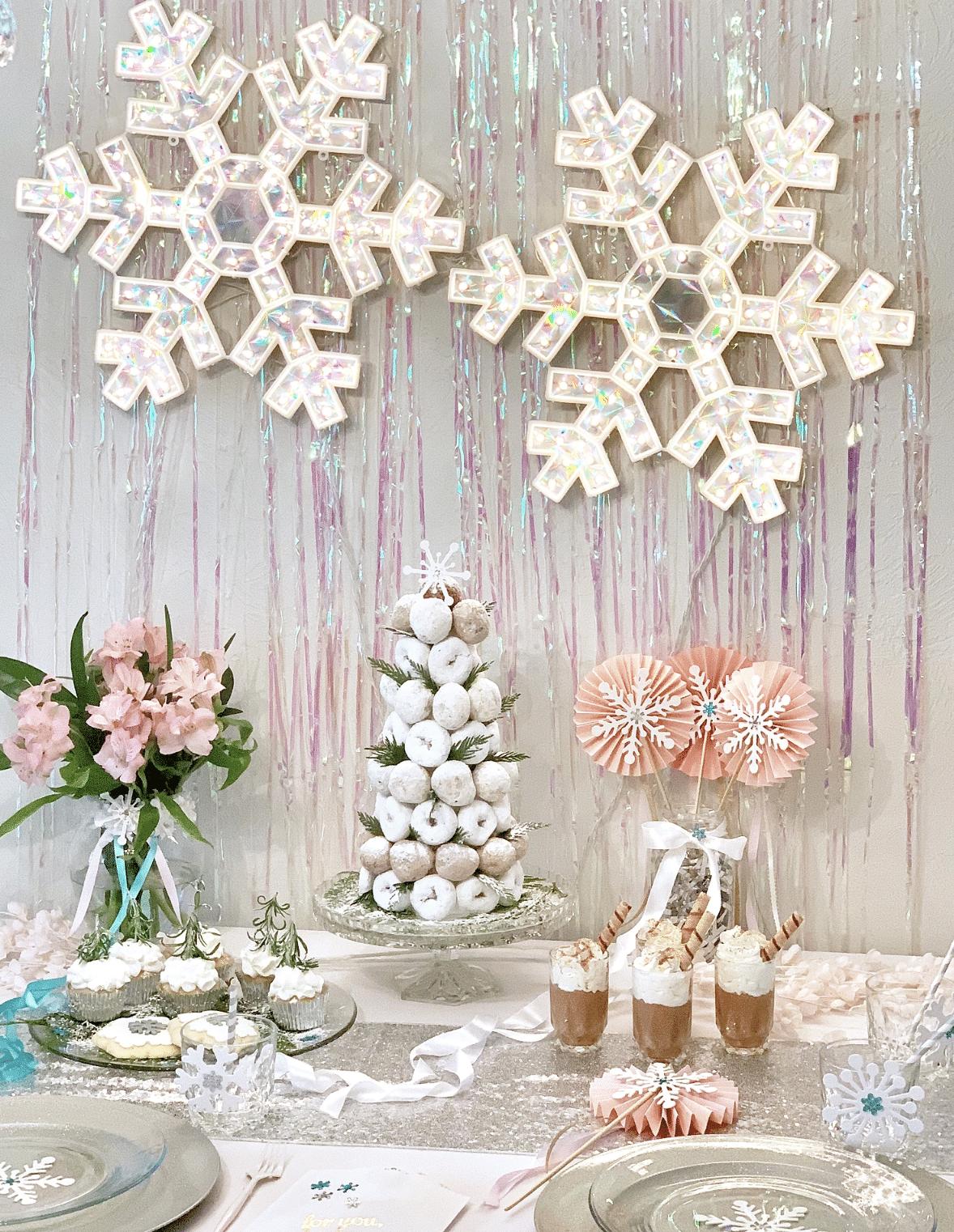 Winter wonderland Christmas party themes