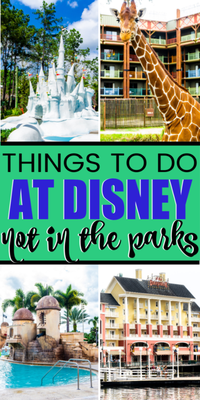 Best things to do at Disney World outside of the parks! Great ideas for kids, for teens, and even secret items for adults! Add these to your Disney bucket lists for sure!