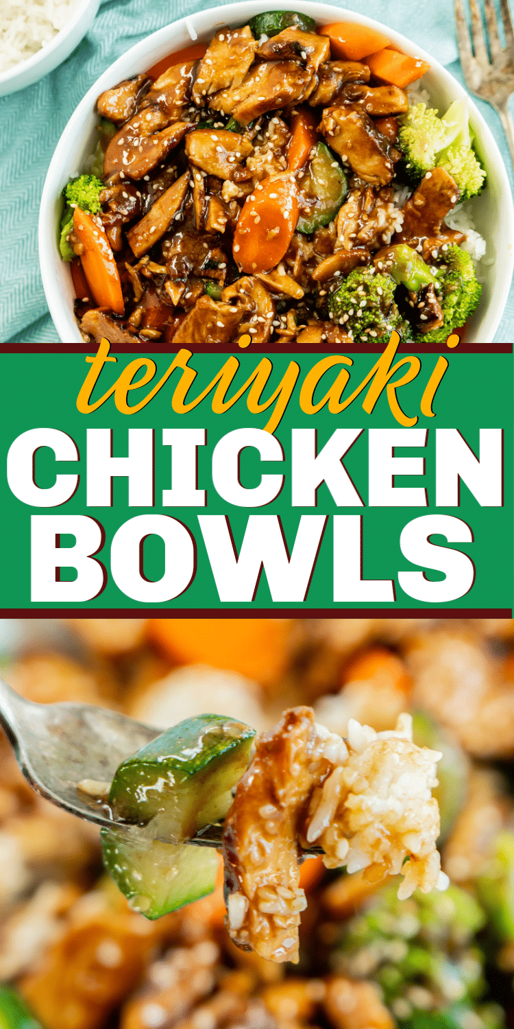 The best teriyaki chicken bowl recipe! So easy and delicious.