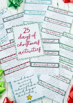 Pages of Christmas activities for families