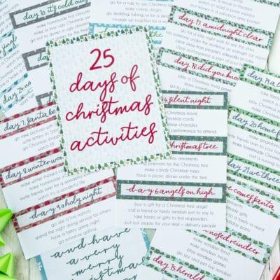 Free Printable 25 Days of Christmas Activities Books