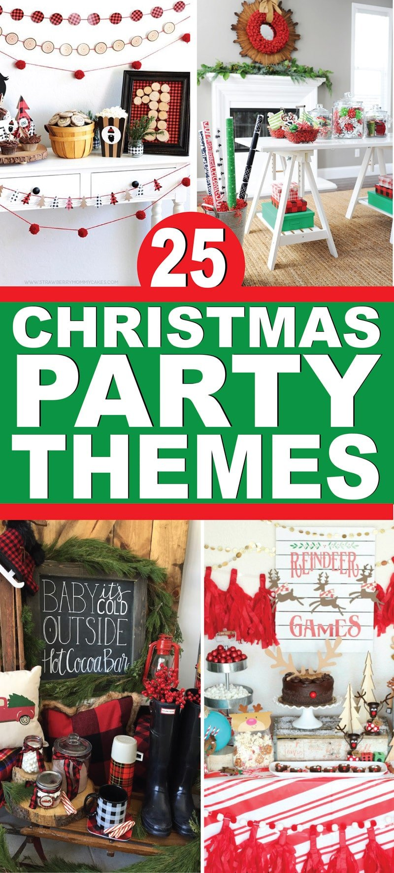 25 of the best Christmas party themes! Great ideas for adults, for kids, and party themes for the entire family! via @playpartyplan
