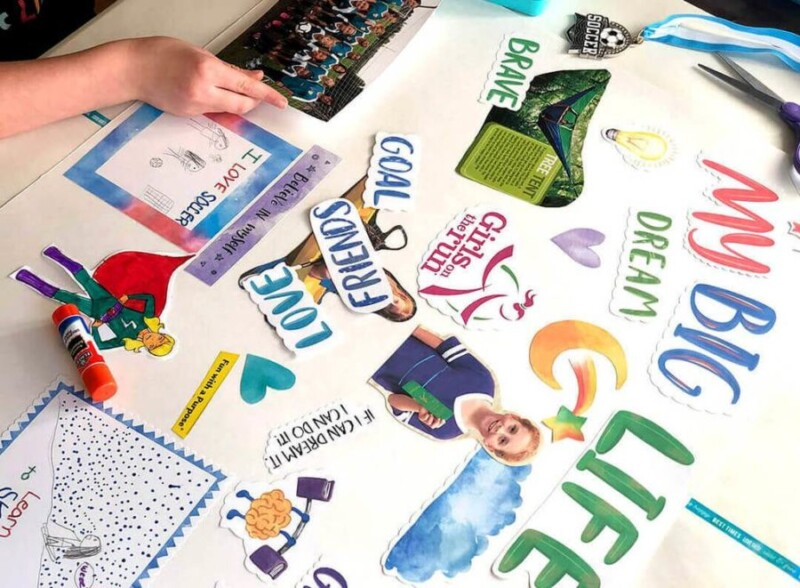 Vision boards make great New Year's Eve ideas for kids