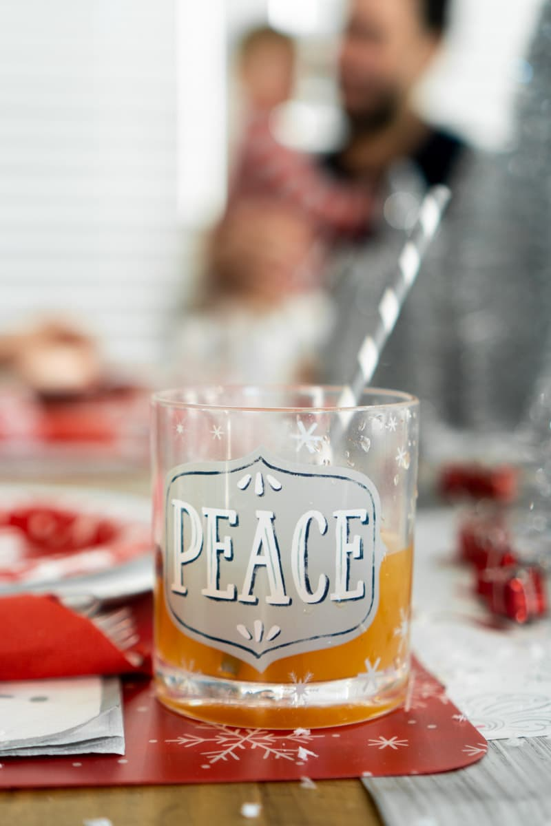 Cup of wassail and Christmas party ideas