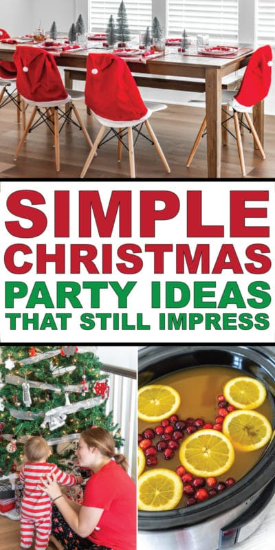 Easy Christmas party ideas for making this holiday season merry and bright!