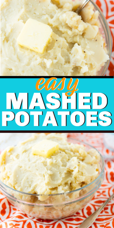 Easy homemade mashed potatoes you can make in minutes with russet potatoes. They're creamy, simple to make, and the best mashed potato recipe you'll make!