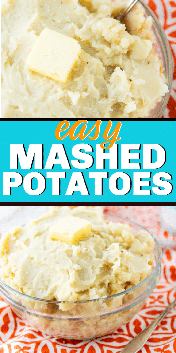 Easy homemade mashed potatoes you can make in minutes with russet potatoes. They're creamy, simple to make, and the best mashed potato recipe you'll make! via @playpartyplan