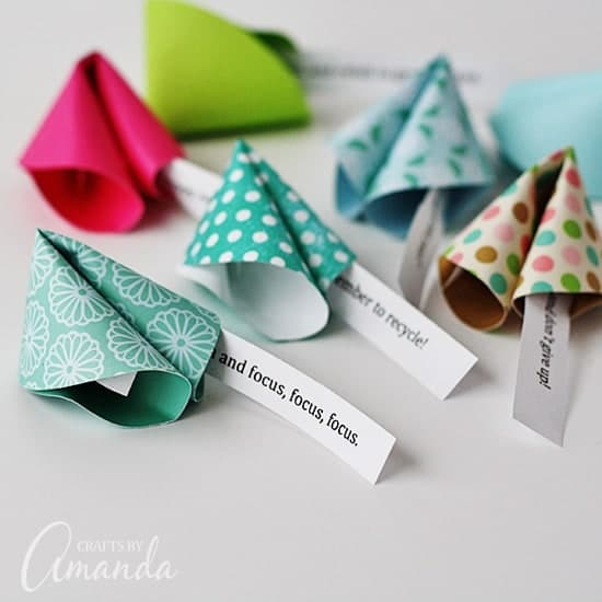paper fortune cookies are fun New Year's Eve ideas for kids