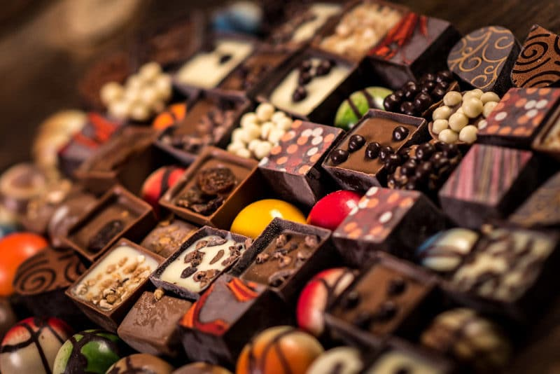 Chocolate makes great gifts for entertainers